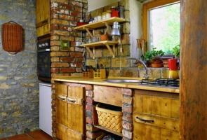 Bontott tégla konyhapult