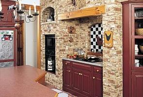 Bontott tégla konyha